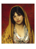 Young Girl with Veil, 1882 Giclee Print by Eugen Von Blaas