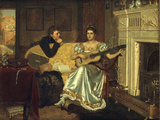 Say, What shall be the Burden of my Song, 1881 Posters by Edmund Blair Leighton