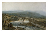 A Bridge, Possibly in Wales, c.1797-8 Giclee Print by Thomas Girtin