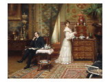 Taking Tea, 1904 Giclee Print by Henri Adrien Tanoux