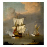 The Evening Gun Giclee Print by Francis Swaine
