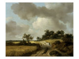 Landscape with Figures on a Path, c.1746-48 Giclee Print by Thomas Gainsborough