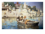 The Last Voyage-A Souvenir of the Ganges, Benares, 1885 Giclee Print by Edwin Lord Weeks