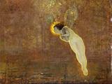 Iris (Her Autumnal Errand: Third Reading) Prints by John Atkinson Grimshaw