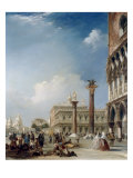 A View of La Zecca with Palazzo Ducale, Venice Giclee Print by Edward Pritchett