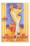 Les vacances de Monsieur Hulot : film de Jacques Tati, 1953 (Affiche française) Photographie