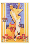 Mr. Hulot&#39;s Holiday, French Movie Poster, 1953 Prints