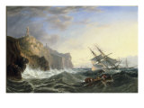 Shipping off the Lizard, 1862 Giclee Print by John Wilson Carmichael