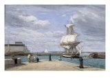 Honfleur, Le Port, c.1858-62 Giclee Print by Eugène Boudin