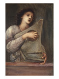 A Musician Giclee Print by Edward Burne-Jones