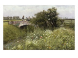 A Meeting on the Bridge Art by Emile Claus