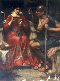 Jason and Medea Posters by John William Waterhouse
