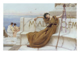 On the Terrace, 1890 Giclee Print by John William Godward