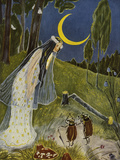 Little Peter's Trip to the Moon Giclee Print by Hans Baluschek