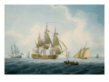 A British Two-Decker with other Shipping, 1806 Print by William Anderson