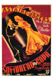 Top Hat, Spanish Movie Poster, 1935 Print