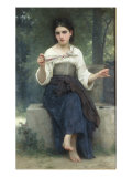 Reflexions, 1893 Prints by William Adolphe Bouguereau