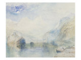 The Lauerzersee with Schwyz and the Mythen, early 1840's Prints by William Turner
