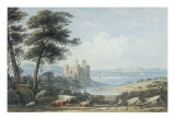 View of Conway Castle, North Wales, 1835 Giclée-Druck von John Varley