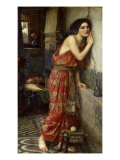 Thisbe' or 'The Listener', 1909 Print by John William Waterhouse