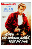 Rebel Without a Cause, German Movie Poster, 1955 Affischer