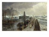 Peel Harbour, Isle of Man, 1875 Giclee Print by Samuel Bough