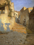 A Street Scene in Tunisia, 1891 Giclee Print by Peter Vilhelm Ilsted