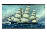 Glory of the Seas' in Full Sail, 1919 Lámina giclée por Antonio Jacobsen