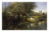 On a River Bank, 1872 Giclee Print by Charles James Lewis