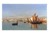 A View of the Venetian Lagoon Giclee Print by Guglielmo Ciardi