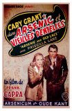 Arsenic and Old Lace, Belgian Movie Poster, 1944 Affiches