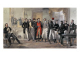 La Reunion des Coureurs, 1832 Print by Eugene Louis Lami
