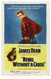 La Fureur de vivre - Rebel Without a Cause : affiche américaine du film de Nicholas Ray avec James Dean, 1955 Posters
