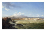 A View of Mount Etna from the Sea, 1833 Giclee Print by Thomas Fearnley