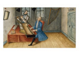 Musicians Playing a Flute and a Spinet in an Interior Prints