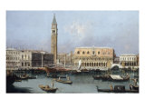 Venice, the Molo from the Bacino di SanMarco Prints by  Canaletto