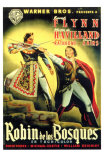The Adventures of Robin Hood, Spanish Movie Poster, 1938 Print