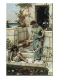 Feeding the Goldfish, 1888 Giclee Print by William Stephen Coleman