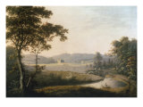 River Landscape with View of Hayton Hall, Yorkshire Giclee Print by George Cuitt