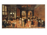 Courtly Company Entertained by Musicians in a Palace Interior Giclee Print by Louis de Caullery