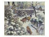 Effet de Neige a Montfoucault, 1882 Prints by Camille Pissarro