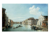 The Grand Canal, Venice, looking South East to the Fabriche Nuovo di Rialto Giclee Print by William James