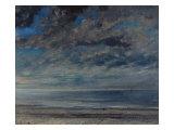 Gustave Courbet - La Plage, Soleil Couchant, 1867 Digitálně vytištěná reprodukce