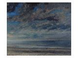 La Plage, Soleil Couchant, 1867 Poster by Gustave Courbet