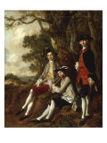 Portrait of Peter Darnal Muilman, Charles Crockatt and William Keeble Poster by Thomas Gainsborough