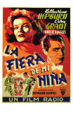 Bringing Up Baby, Spanish Movie Poster, 1938 Poster