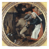 The Drunkard Pushed into the Pigsty Giclee Print by Pieter Bruegel the Elder