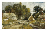 Landscape with Cottages Prints by Frederick Waters Watts
