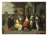 An Elegant Gathering within the Grounds of a Country Villa Giclee Print by Hieronymus Janssens