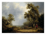 Landscape with Gypsies on a Path Giclee Print by Alfred Vickers